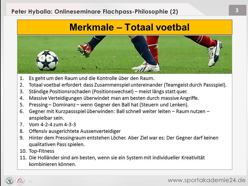 Fussball Training: Totalvoetbal - Spielen mit dem Raum