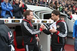 Bayer Leverkusen - Sascha Lewandowski und Peter Hyballa