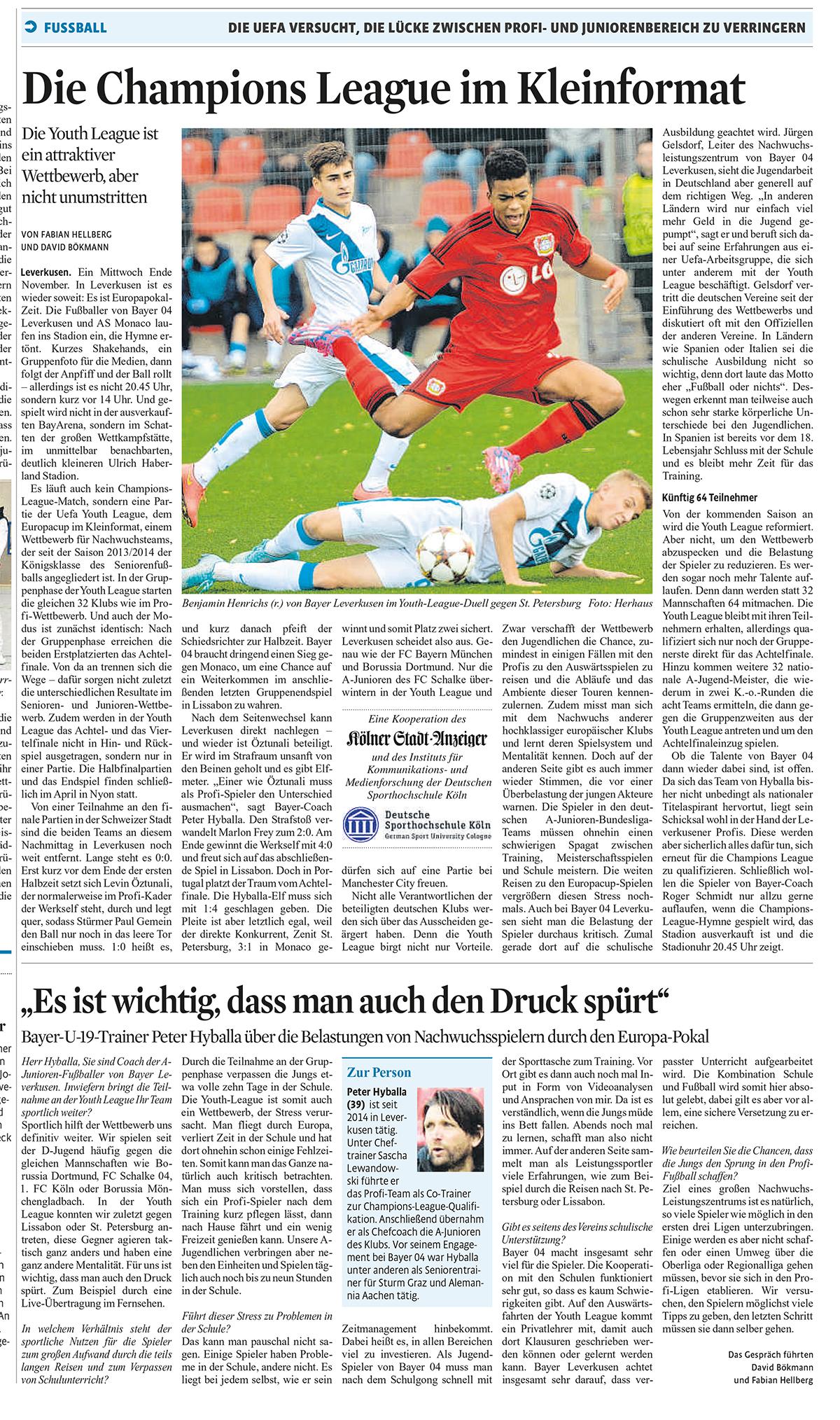 Bericht: Bayer Leverkusen U19 in der Junioren-Champions League