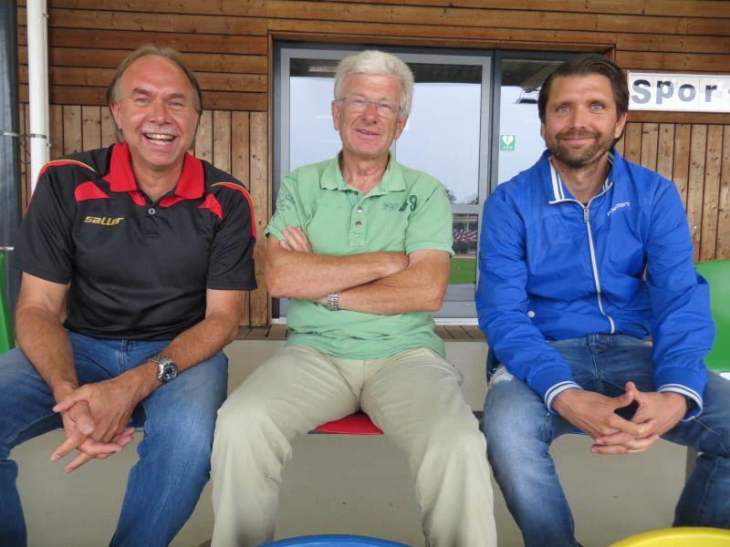 Gruppenfoto Hans-Dieter te Poel, Harry Dost, Peter Hyballa